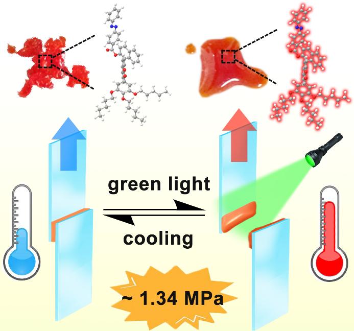 北化大:绿光诱导偶氮苯衍生物固液态转变及粘合剂应用